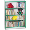 "Rainbow Accents Book Rack - 48"" Height x 36.5"" Width x 11.5"" Depth - Green - 1Each"