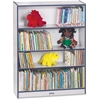 "Rainbow Accents Book Rack - 48"" Height x 36.5"" Width x 11.5"" Depth - Navy - 1Each"