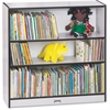 "Rainbow Accents Book Rack - 36"" Height x 36.5"" Width x 11.5"" Depth - Black - 1Each"