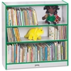 "Rainbow Accents Book Rack - 36"" Height x 36.5"" Width x 11.5"" Depth - Green - 1Each"