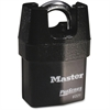 Master Lock Boron Shackle Pro Series Padlock - Keyed Different - Steel Body, Hardened Boron Alloy Shackle, Iron Shroud - Black