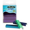 "Swingline Color Bright Staples - 105 Per Strip - Standard - 1/4"" Leg - for Paper - Blue, Purple, Green, Teal - 1 / Box"