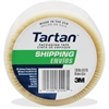 "Scotch Tartan General Purpose Shipping Packing Tape - 1.89"" Width x 54.68 yd Length - 3"" Core - Rubber Resin - Polypropylene Backing - 1 Roll - Clear"
