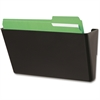 "Deflect-o Stackable Wall DocuPocket - 1 Pocket(s) - 7"" Height x 13"" Width x 4"" Depth - Black - Plastic - 1Each"