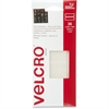 "Velcro Press-and-close Fasteners - 0.50"" Width x 1.50"" Length - Adhesive Backing - 36 / Pack - Natural"
