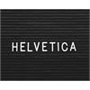 "Ghent 3/4"" Helvetica Letterboard Letters - 0.75"" Height - White - Plastic - 1 Each"