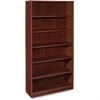 "Lorell Essentials Bookcase - 36"" x 12.5"" x 72"" - 6 Shelve(s) - Square Edge - Finish: Laminate, Mahogany"