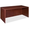 "Lorell Essentials Rectangular Desk Shell - 66.1"" x 29.5"" x 29.5"" - Finish: Laminate, Mahogany"