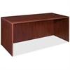 "Lorell Essentials Rectangular Desk Shell - 70.9"" x 35.6"" x 29.5"" - Finish: Laminate, Mahogany"