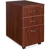 "Lorell Essentials Pedestal - 15.8"" x 22"" x 28.6"" - 3 x Box Drawer(s), File Drawer(s) - Finish: Laminate, Mahogany"