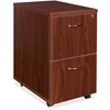 "Lorell Essentials Mobile Pedestal - 15.8"" x 22"" x 28.6"" - Double Pedestal - Finish: Laminate, Mahogany"