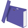 "Bankers Box Chart Storage Boxes - Internal Dimensions: 31.25"" Width x 7"" Depth x 22.50"" Height - External Dimensions: 32.8"" Width x 7.8"" Depth x 23"" Height - 50 lb - Corrugated Paper - Purple - For Ch"