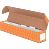 "Bankers Box Sentence Strip Storage Box w/4 Dividers - Internal Dimensions: 24.50"" Width x 3.88"" Depth x 3.88"" Height - External Dimensions: 25.5"" Width x 4.1"" Depth x 4.1"" Height - 4 Dividers - Orange"