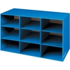"Bankers Box 9 Compartment Cubby - 9 Compartment(s) - Compartment Size 4.75"" x 9"" x 12.75"" - 16"" Height x 28.3"" Width x 13"" Depth - Desktop - Blue - Corrugated Paper - 1Each"