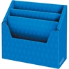 "Bankers Box 3 Compartment Folder Holders - 3 Compartment(s) - Compartment Size 9"" x 12.50"" x 1.50"" - 12"" Height x 13.8"" Width x 5.6"" Depth - Desktop - Recycled - Blue - Corrugated Paper - 6 / Carton"