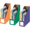 "Bankers Box 4"" Magazine File Holders - Secondary, 3pk - Orange, Green, Purple - 3 / Pack"
