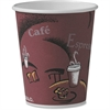 Solo Hot Cup - 10 oz - 300 / Carton - Maroon - Paper - Hot Drink