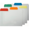 "Smead Poly Color Coded File Folder - Letter - 8 1/2"" x 11"" Sheet Size - 1/3 Tab Cut - Assorted Position Tab Location - Polypropylene - Blue, Green, Orange, Red, Yellow - 25 / Box"