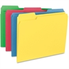 "Smead Colored Folders - Letter - 8 1/2"" x 11"" Sheet Size - 1/3 Tab Cut - Assorted Position Tab Location - 11 pt. Folder Thickness - Assorted - Recycled - 24 / Pack"