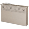 "Smead TUFF® Hanging Box Bottom Folders with Easy Slide™ Tab - Legal - 8 1/2"" x 14"" Sheet Size - 2"" Expansion - Top Tab Location - 14 pt. Folder Thickness - Steel Gray - Recycled - 18 / Box"
