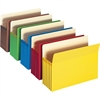 """Smead Colored File Pockets - Letter - 8 1/2"""" x 11"""" Sheet Size - 5 1/4"""" Expansion - Redrope - Assorted - Recycled - 5 / Pack"""