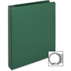 "Business Source Ring Binder - 1"" Binder Capacity - Letter - 8 1/2"" x 11"" Sheet Size - 3 x Round Ring Fastener(s) - Vinyl - Green - 1 Each"
