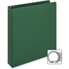 "Business Source Ring Binder - 1 1/2"" Binder Capacity - Letter - 8 1/2"" x 11"" Sheet Size - 3 x Round Ring Fastener(s) - Vinyl - Green - Recycled - 1 Each"