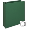 "Business Source Ring Binder - 2"" Binder Capacity - Letter - 8 1/2"" x 11"" Sheet Size - 3 x Round Ring Fastener(s) - Vinyl - Green - Recycled - 1 Each"