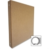 "Aurora Recycled Binder - 1/2"" Binder Capacity - 3 x Ring Fastener(s) - Chipboard - Brown Kraft - Recycled - 1 / Each"