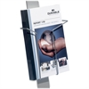 "Durable Literature Dispenser - 9.3"" Height x 9.5"" Width x 2.6"" Depth - Stand Mountable - Recycled - Silver - Aluminum - 1Each"