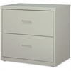 """Lorell Lateral File - 30"""" x 18.6"""" x 28.1"""" - 2 x Drawer(s) for File - A4, Letter, Legal - Interlocking, Ball-bearing Suspension, Adjustable Glide - Light Gray - Steel - Recycled"""