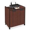 "Mayline 2110MU Printer Cabinet - 150 lb Load Capacity - 1 x Shelf(ves) - 31"" Height x 27"" Width x 20"" Depth - Steel - Mahogany, Black"