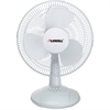 "Lorell Desk Fan - 12"" Diameter - 3 Speed - Quiet, Oscillating - 19.5"" Height x 13.9"" Width x 11.5"" Depth - Metal Grille - Light Gray"