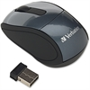 Verbatim Wireless Mini Travel Optical Mouse - Graphite - Radio Frequency - USB - 1600 dpi - Scroll Wheel