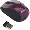 Verbatim Wireless Mini Travel Optical Mouse - Purple - Radio Frequency - USB - 1600 dpi - Scroll Wheel