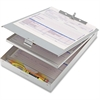 "OIC Aluminum Double Storage Form Holder - 8.50"" x 12"" - Aluminum - Silver"