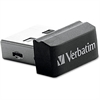 Verbatim 8GB Store 'n' Stay Nano USB Flash Drive - Black - 8 GB - Black - 1 Pack