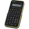 "Sharp EL501X Scientific Calculator - Protective Hard Shell Cover, Automatic Power Down, Large Display - Battery Powered - 3.3"" x 6"" x 0.5"" x 9"" - Black, Green - 1 Each"