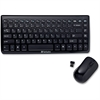 Verbatim Wireless Mini Slim Keyboard and Optical Mouse - Black - USB Wireless RF Keyboard - USB Wireless RF Mouse
