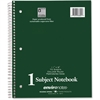 """Roaring Spring 1-Subject Notebook - 70 Sheets - Printed - Wire Bound 11"""" x 9"""" - White Paper - Assorted Cover - 1Each"""