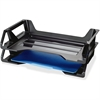 "OIC Side Loading Letter Tray - 5.4"" Height x 15.1"" Width x 8.9"" Depth - Desktop - Recycled - Black - Plastic - 2 / Pack"