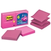 """Post-it Post-it Pop-up Notes, 3 in x 3 in, Pink - 600 - 3"""" x 3"""" - Square - 100 Sheets per Pad - Unruled - Pink - Paper - Pop-up, Repositionable - 6 Pad"""