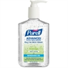 Purell Green Certified Instant Hand Sanitizer - 8 fl oz (236.6 mL) - Pump Bottle Dispenser - Kill Germs - Skin, Hand - Clear - Biodegradable, Dye-free, Fragrance-free, Moisturizing - 1 Each