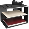 "Victor Corner Shelf Unit - 13.5"" Height x 13.5"" Width x 10.5"" Depth - Desktop - Matte Black - Rubber, Wood - 1Each"