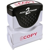 "COSCO Shutter Stamp - Message Stamp - ""COPY"" - 0.50"" Impression Width x 1.63"" Impression Length - 20000 Impression(s) - Red - Rubber, Plastic Handle, Frame - 1 Each"