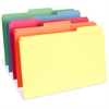 """Business Source Top Tab File Folder - Legal - 8 1/2"""" x 14"""" Sheet Size - 3/4"""" Expansion - 1/3 Tab Cut - Assorted Position Tab Location - 11 pt. Folder Thickness - Assorted - Recycled - 100 / Box"""