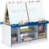 Jonti-Craft 4 Station Art Center - Freckled Gray, Navy Stand - Floor Standing - Assembly Required - 1 Each
