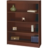 "Square-Edge Bookcase - 36"" x 12"" x 48"" - 4 x Shelf(ves) - 400 lb Load Capacity - Mahogany - Veneer - Particleboard, Wood - Recycled - Assembly Required"