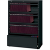 "Lorell Receding Lateral File with Roll Out Shelves - 36"" x 18.6"" x 52.5"" - 4 x Drawer(s) for File - A4, Letter, Legal - Interlocking, Heavy Duty, Leveling Glide, Recessed Handle, Ball-bearing Suspensi"
