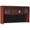 "Aberdeen AHG72 Hutch - 39.1"" x 72"" x 15"" - 4 x Door(s) - Durable - Cherry - Assembly Required"